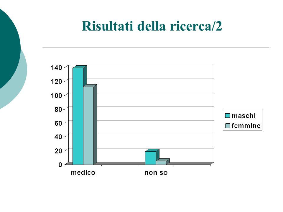 Risultati della ricerca/3 Nella narrazione maschi e femmine usano principalmente concetti ed espressioni riconducibili al modello medico Le femmine sembrano orientate ad usare anche il modello sociale