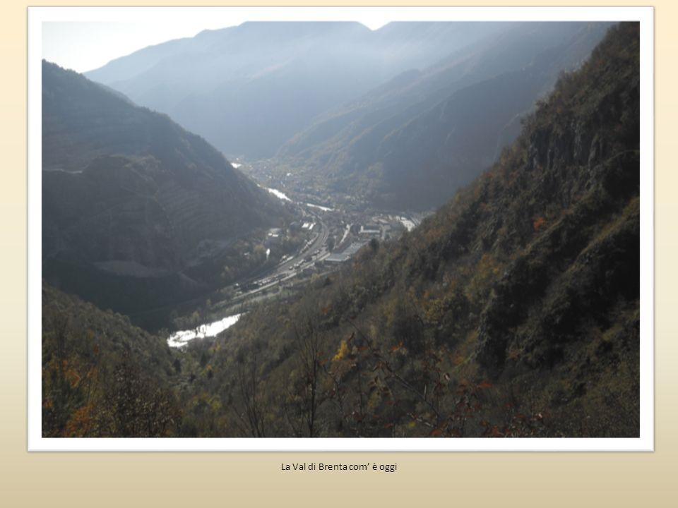 Quest immagine riproduce ipoteticamente il paesaggio della Val di Brenta come poteva essere in un periodo non molto lontano, quando l antropizzazione umana non era ancora in corso.
