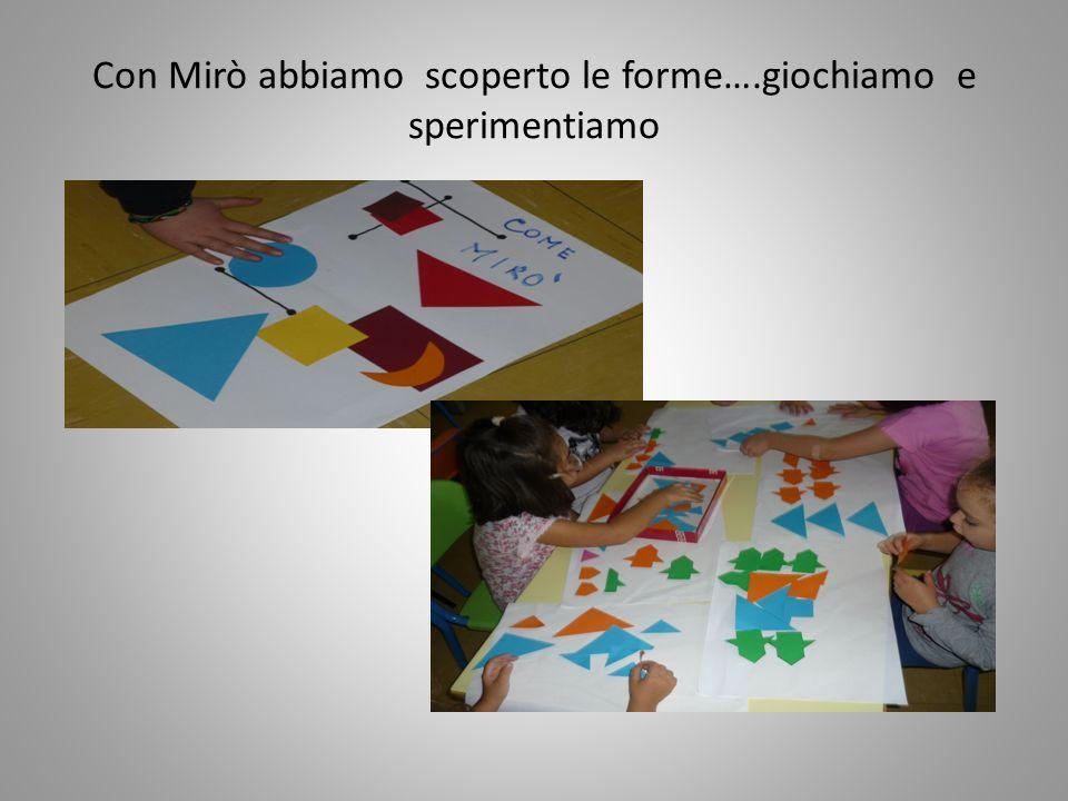 Con Mirò abbiamo scoperto le forme….giochiamo e sperimentiamo