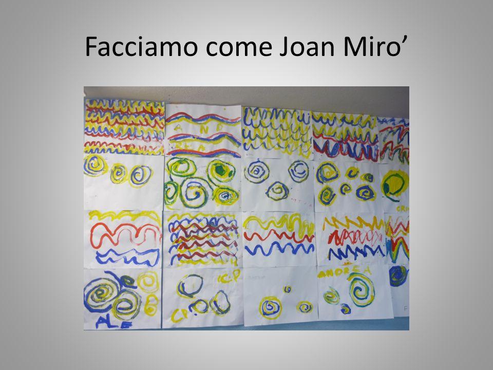 Facciamo come Joan Miro
