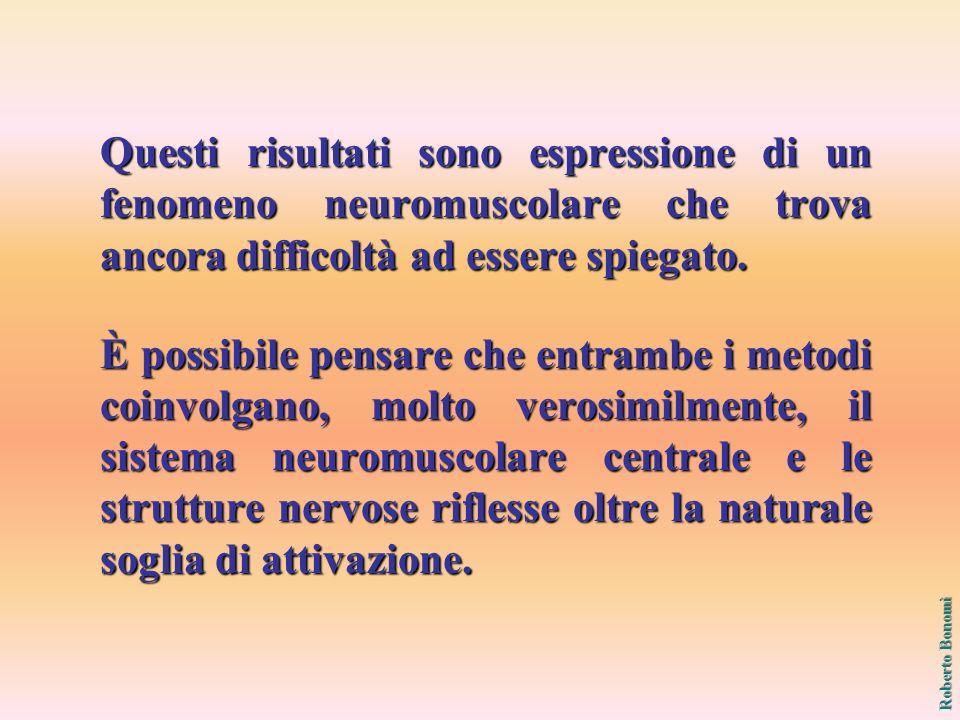 Questi risultati sono espressione di un fenomeno neuromuscolare che trova ancora difficoltà ad essere spiegato.