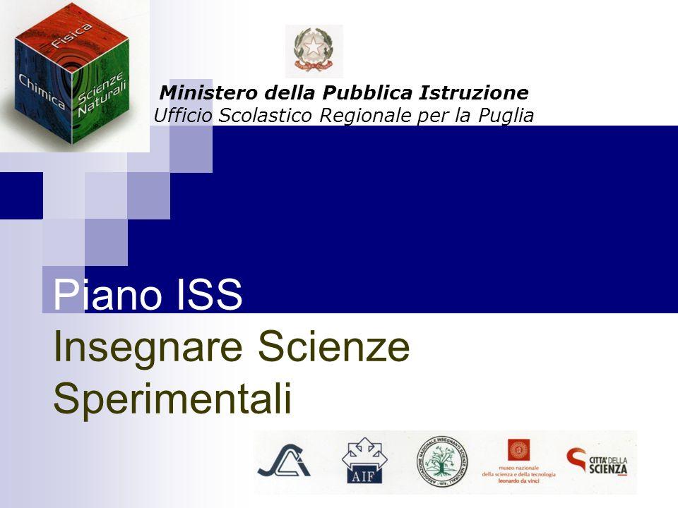 Piano ISS Insegnare Scienze Sperimentali Ministero della Pubblica Istruzione Ufficio Scolastico Regionale per la Puglia