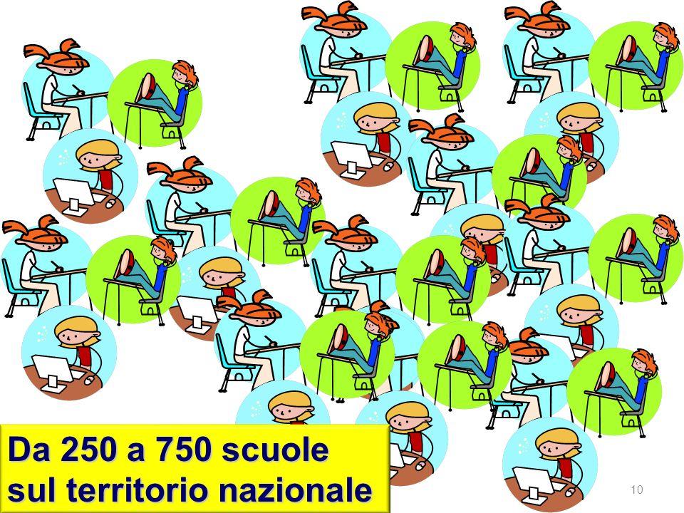 Da 250 a 750 scuole sul territorio nazionale 10