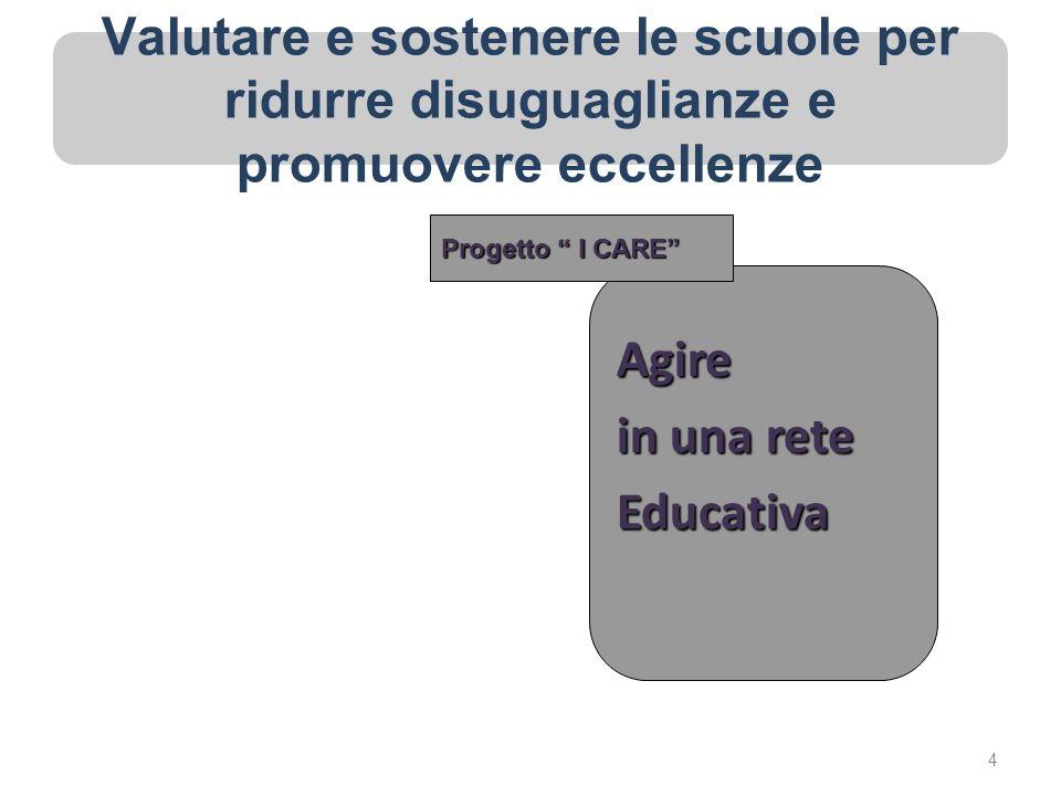 Valutare e sostenere le scuole per ridurre disuguaglianze e promuovere eccellenze Agire in una rete Educativa Progetto I CARE 4