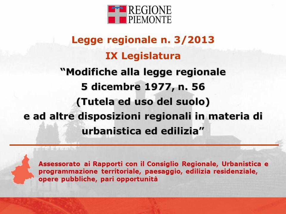 Legge regionale n.3/2013 della IX Legislatura Modifiche alla legge regionale 5 dicembre 1977, n.