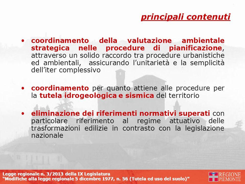 Legge regionale n. 3/2013 della IX Legislatura Modifiche alla legge regionale 5 dicembre 1977, n. 56 (Tutela ed uso del suolo) coordinamento della val