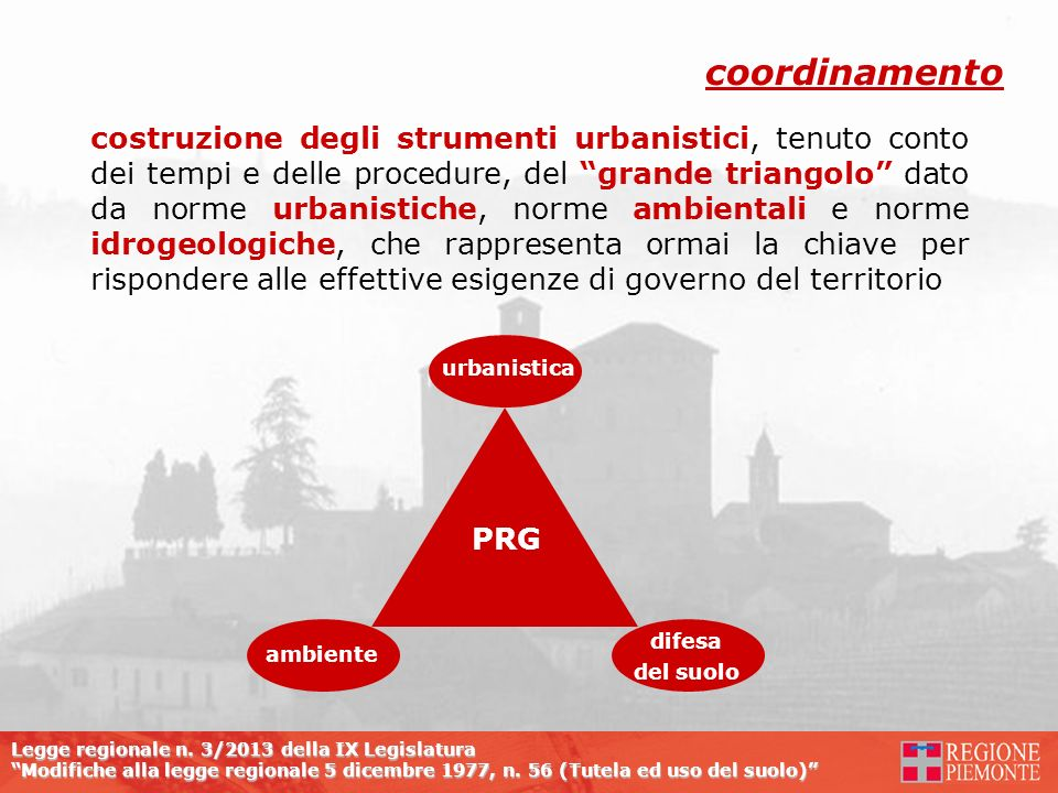 Legge regionale n. 3/2013 della IX Legislatura Modifiche alla legge regionale 5 dicembre 1977, n. 56 (Tutela ed uso del suolo) costruzione degli strum