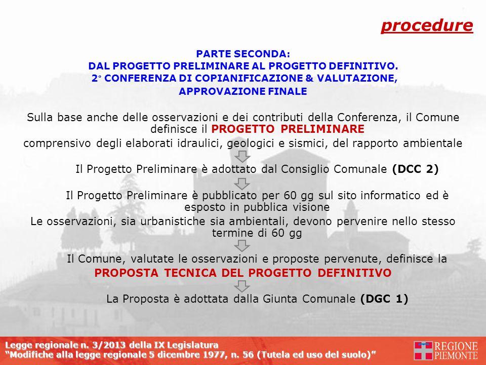 Legge regionale n. 3/2013 della IX Legislatura Modifiche alla legge regionale 5 dicembre 1977, n. 56 (Tutela ed uso del suolo) PARTE SECONDA: DAL PROG