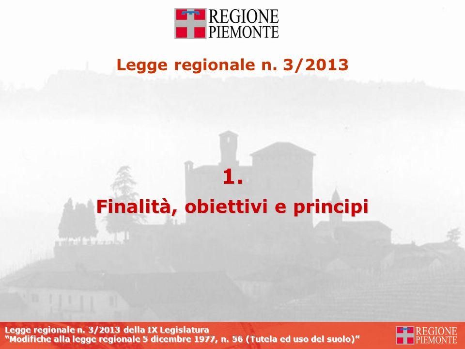 Legge regionale n. 3/2013 della IX Legislatura Modifiche alla legge regionale 5 dicembre 1977, n. 56 (Tutela ed uso del suolo) Legge regionale n. 3/20