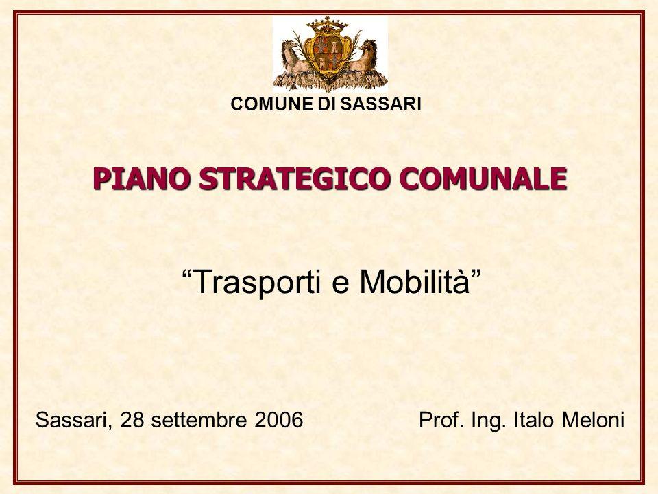 PIANO STRATEGICO COMUNALE Trasporti e Mobilità COMUNE DI SASSARI Sassari, 28 settembre 2006Prof. Ing. Italo Meloni