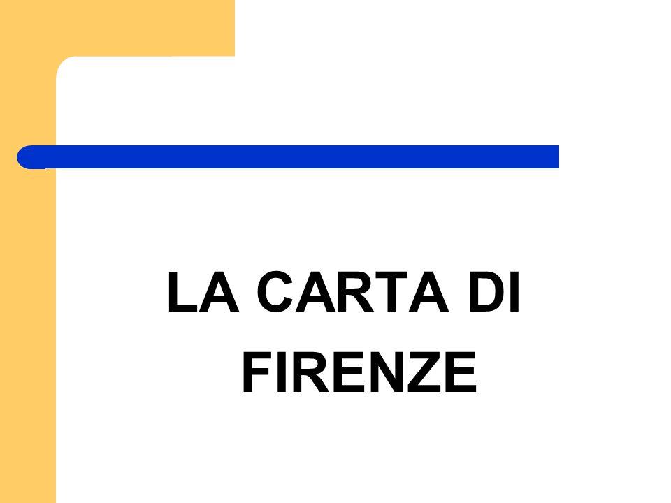 La carta di Firenze 1.
