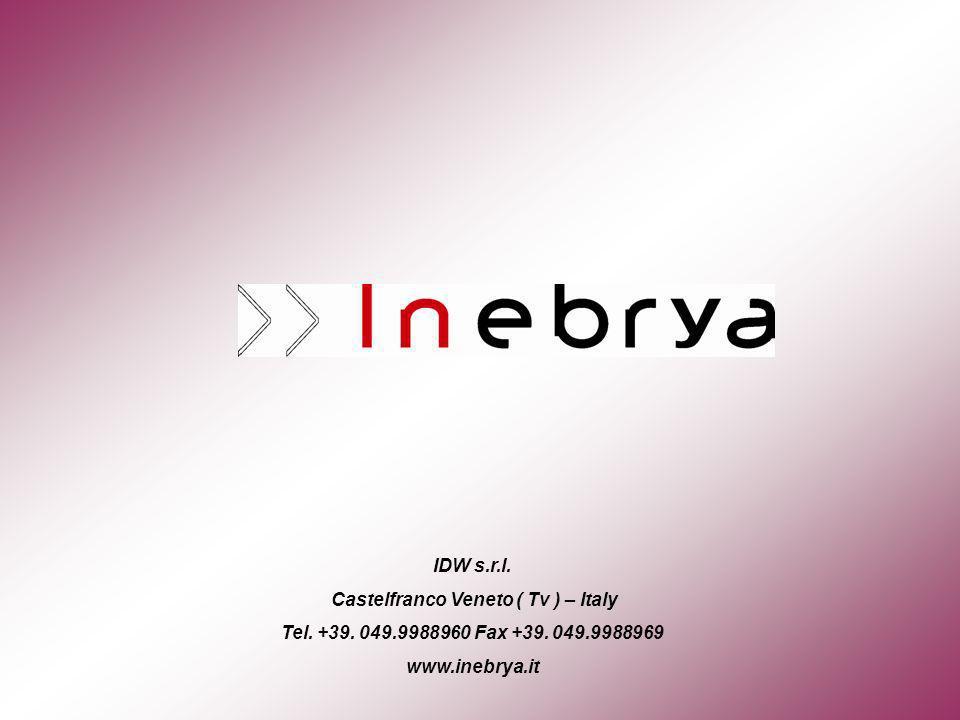 IDW s.r.l. Castelfranco Veneto ( Tv ) – Italy Tel.
