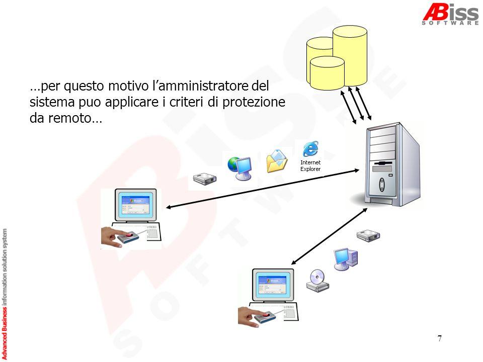 7 …per questo motivo lamministratore del sistema puo applicare i criteri di protezione da remoto…