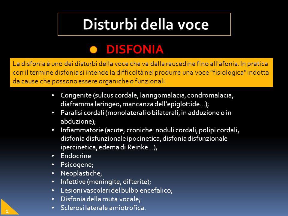 La disfonia è uno dei disturbi della voce che va dalla raucedine fino all'afonia. In pratica con il termine disfonia si intende la difficoltà nel prod
