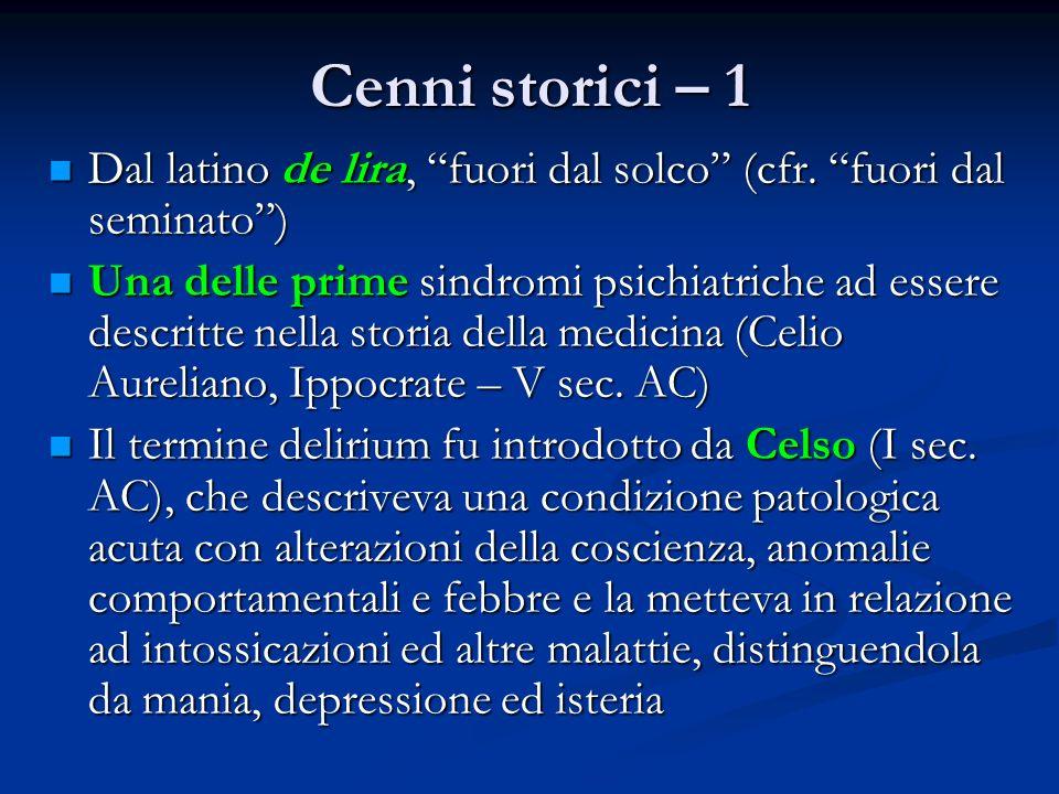 Cenni storici – 1 Dal latino de lira, fuori dal solco (cfr.