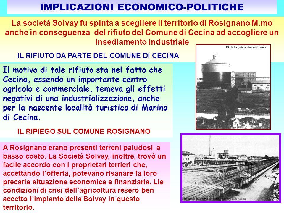 CONSIGLIO COMUNALE di ROSIGNANO M.mo: ADUNANZA 21 SETTEMBRE 1912 Il Consiglio Comunale stabilì i termini di esenzione dalle imposte per la creazione di nuovi impianti industriali.
