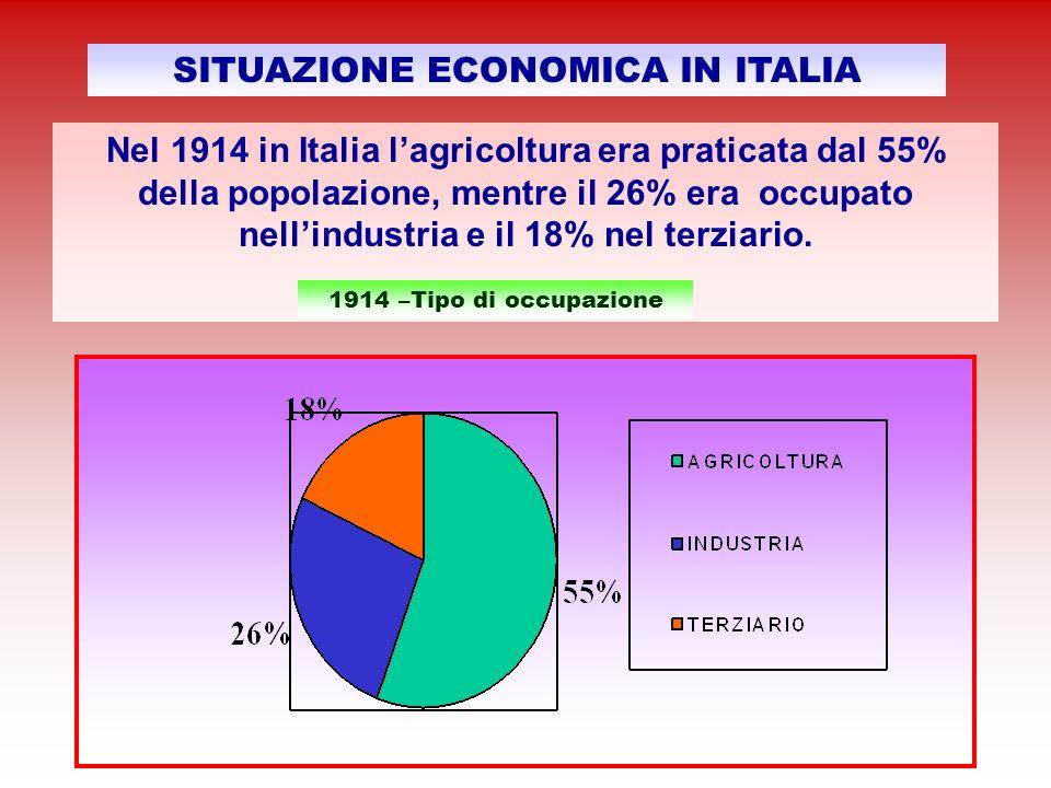 Secondo una statistica agraria, resa nota dal Comune nel 1923, le colture principali erano: grano e granoturco con una produzione media complessiva di 100.000 quintali allanno; uva con 20.000 quintali annui;olive con 1.200 quintali annui.