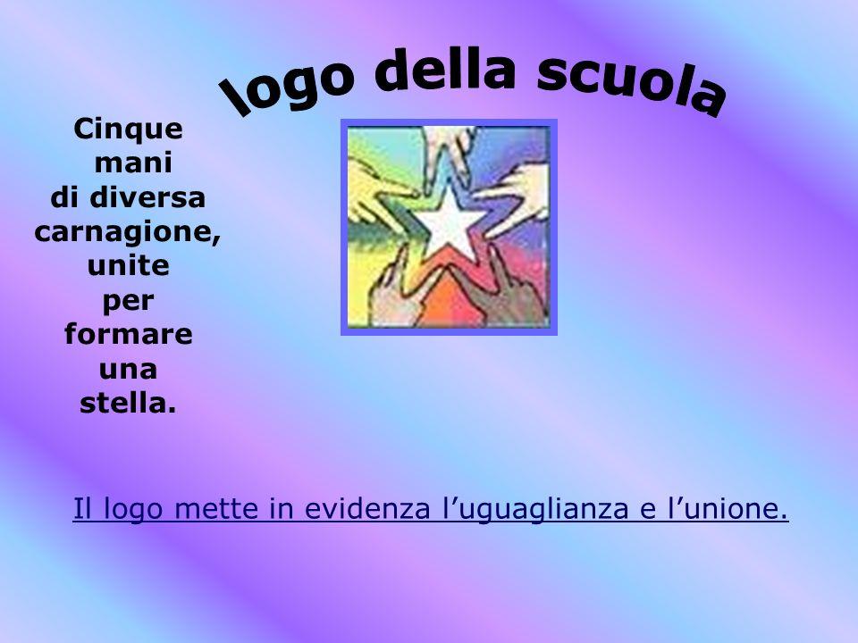 Cinque mani di diversa carnagione, unite per formare una stella. Il logo mette in evidenza luguaglianza e lunione.