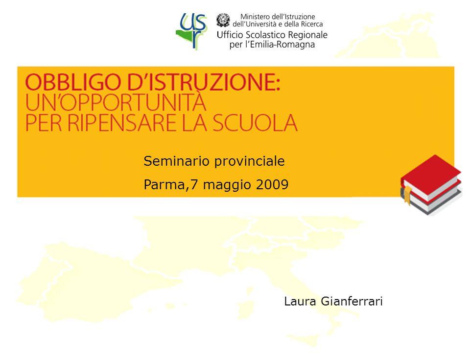 Laura Gianferrari Seminario provinciale Parma,7 maggio 2009