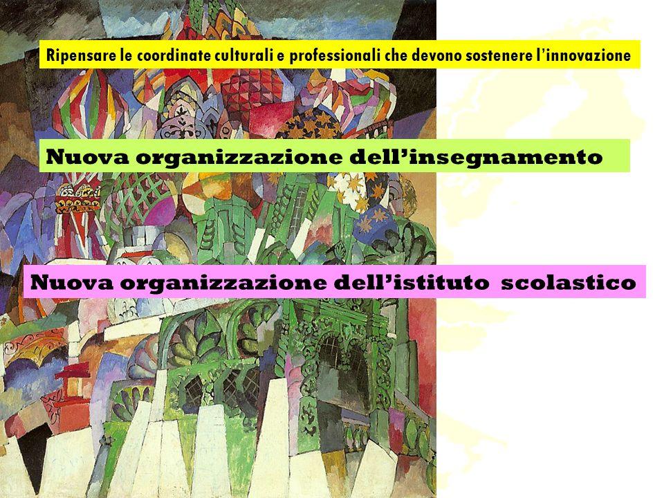 Nuova organizzazione dellinsegnamento Nuova organizzazione dellistituto scolastico Ripensare le coordinate culturali e professionali che devono sostenere linnovazione