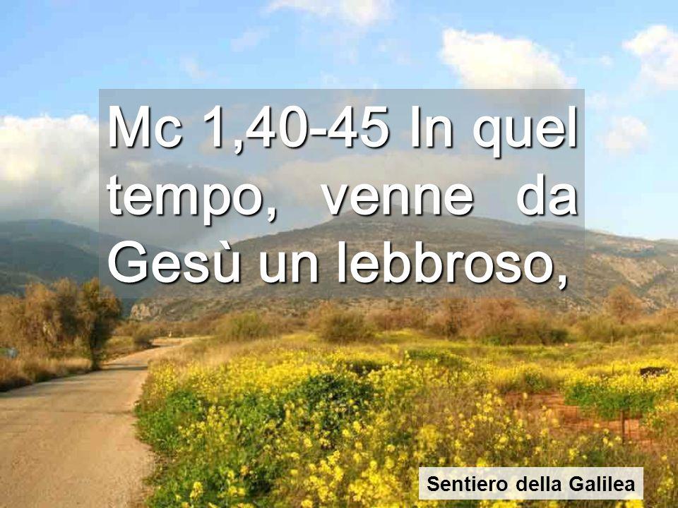 Il primo miracolo è per la persona più emarginata Dopo la giornata a Cafarnao, Gesù comincia a percorrere la Galilea