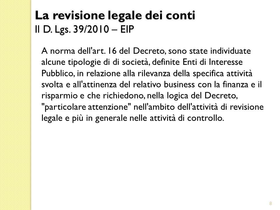 D.Lgs.39/2010 (segue) 2.