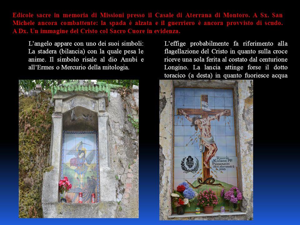 Edicole sacre in memoria di Missioni presso il Casale di Aterrana di Montoro. A Sx. San Michele ancora combattente: la spada è alzata e il guerriero è