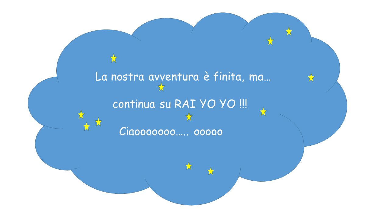 La nostra avventura è finita, ma… continua su RAI YO YO !!! Ciaooooooo….. ooooo