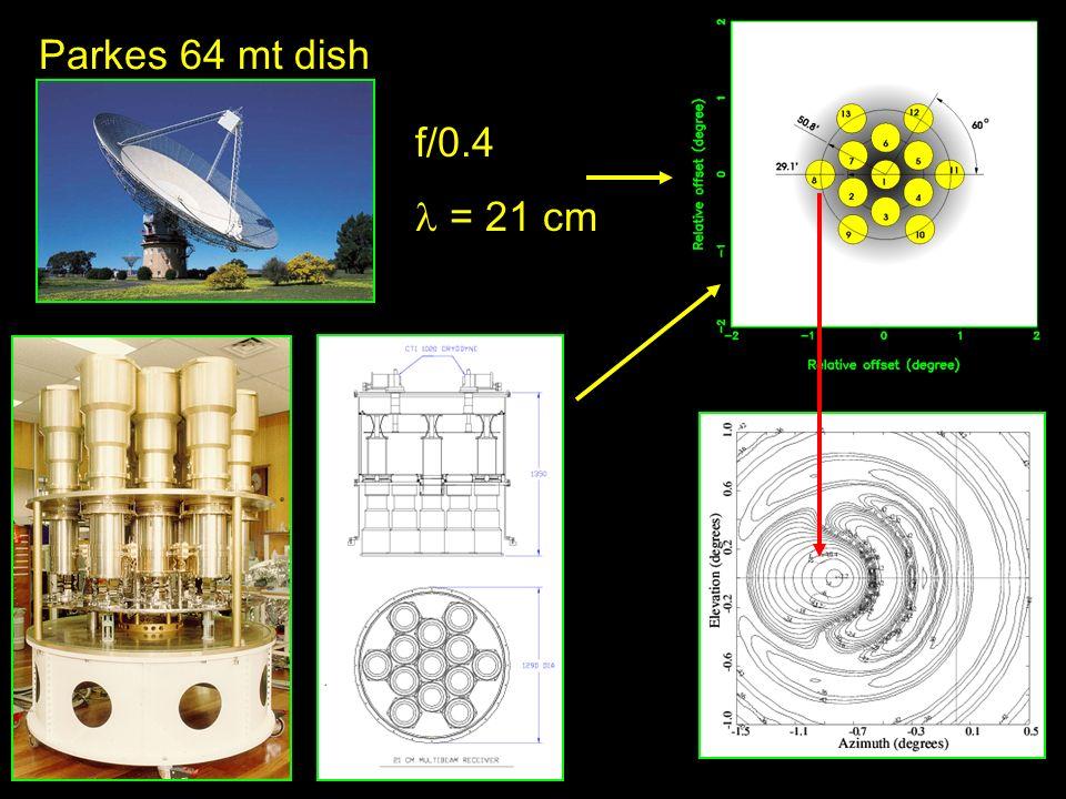 Parkes 64 mt dish f/0.4 = 21 cm