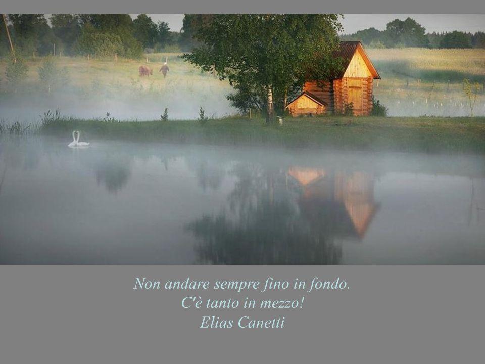 Non andare sempre fino in fondo. C è tanto in mezzo! Elias Canetti