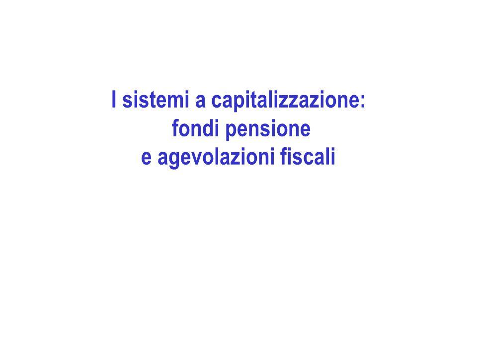 I sistemi a capitalizzazione: fondi pensione e agevolazioni fiscali