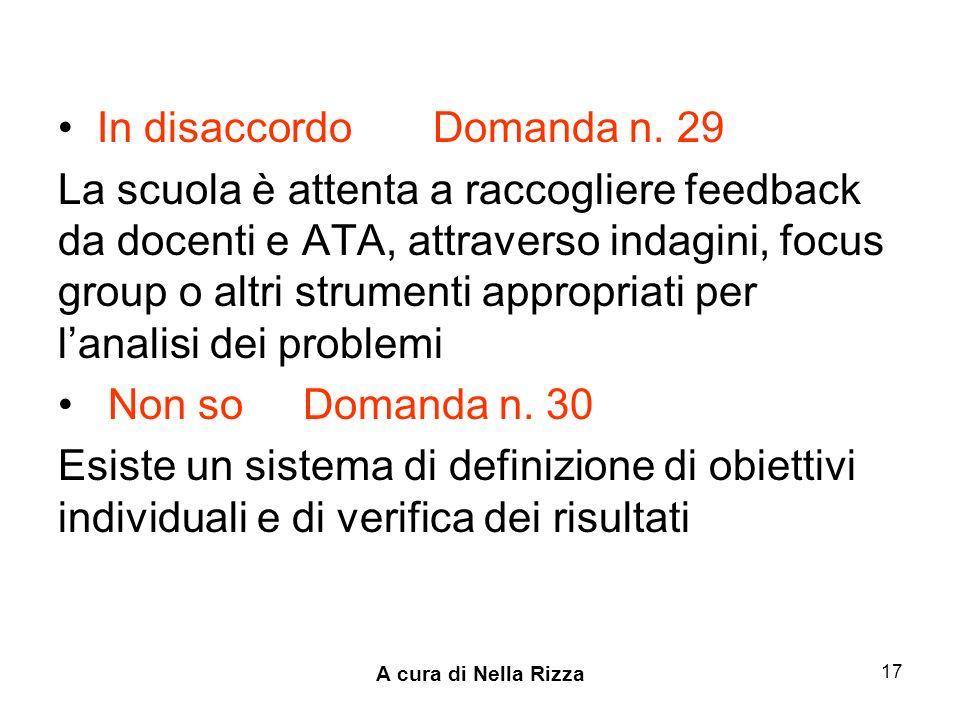A cura di Nella Rizza 17 In disaccordo Domanda n.