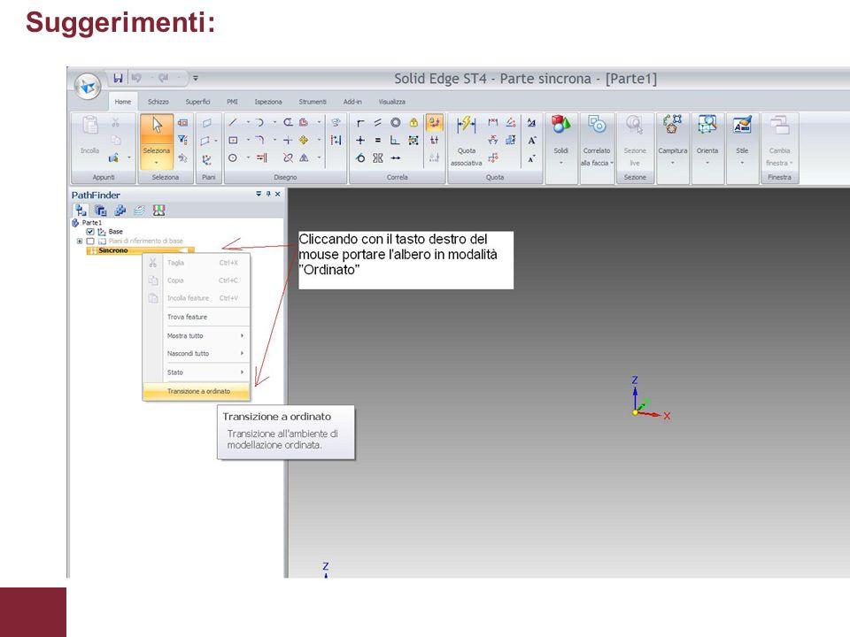 Appunti delle lezioni di Laboratorio CADPagina 3 Suggerimenti: