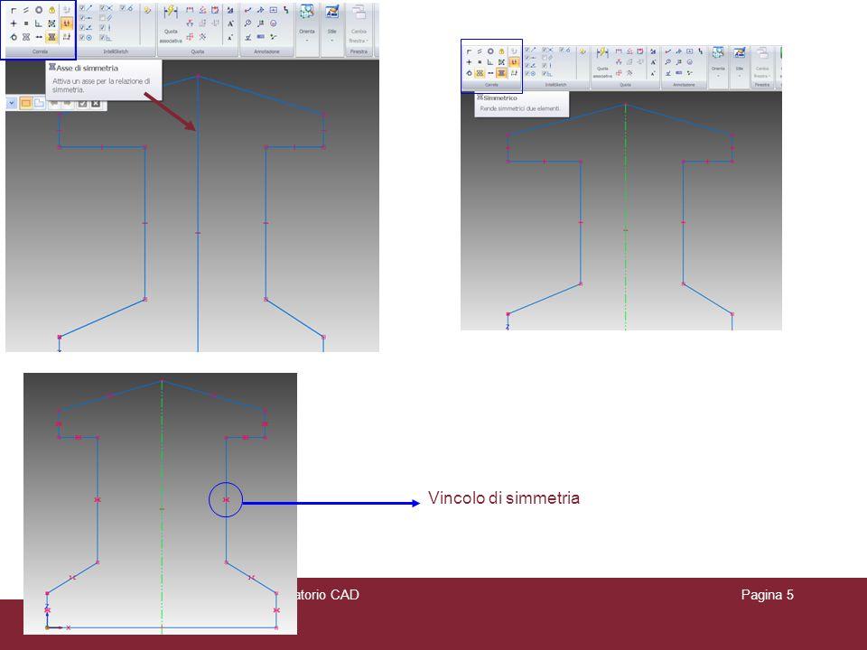 Appunti delle lezioni di Laboratorio CADPagina 5 Vincolo di simmetria