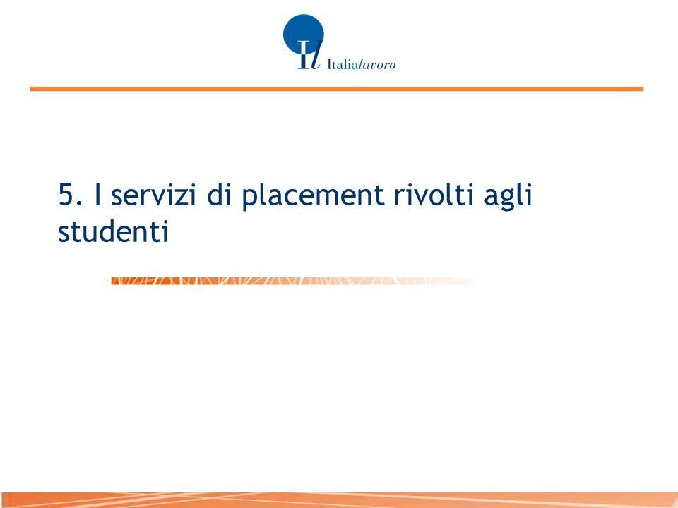 5. I servizi di placement rivolti agli studenti
