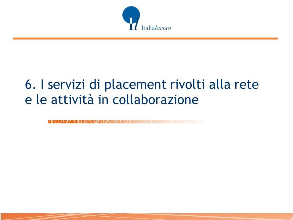 6. I servizi di placement rivolti alla rete e le attività in collaborazione