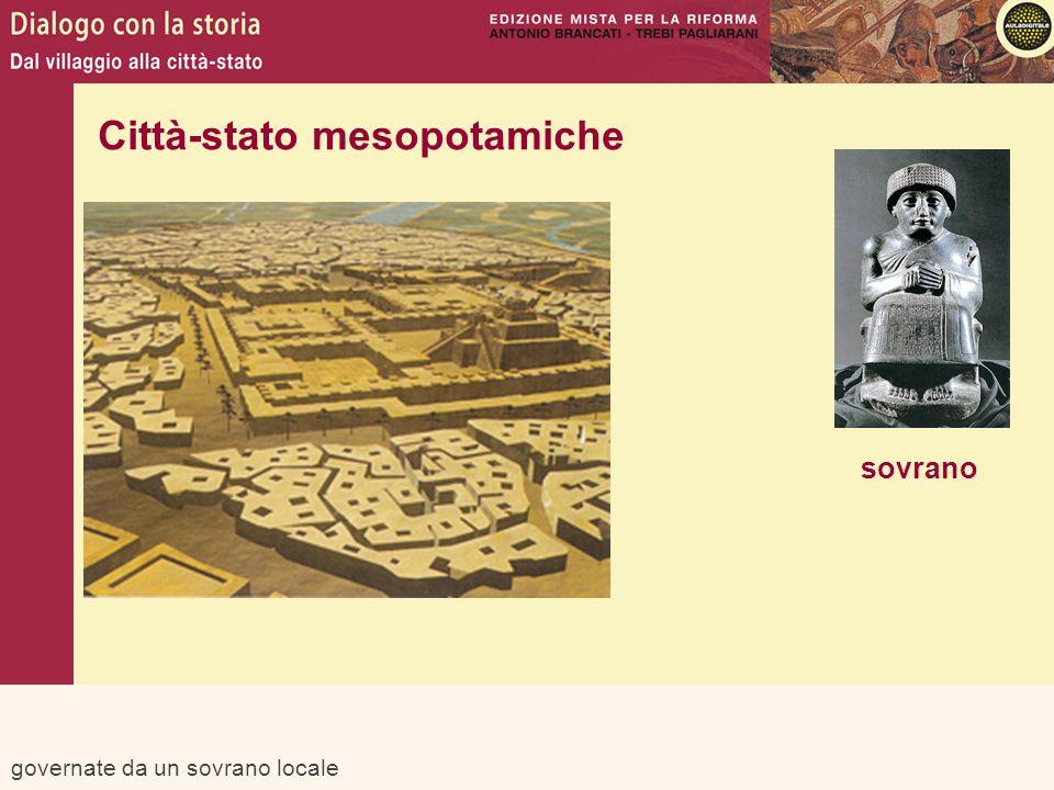 governate da un sovrano locale sovrano Città-stato mesopotamiche