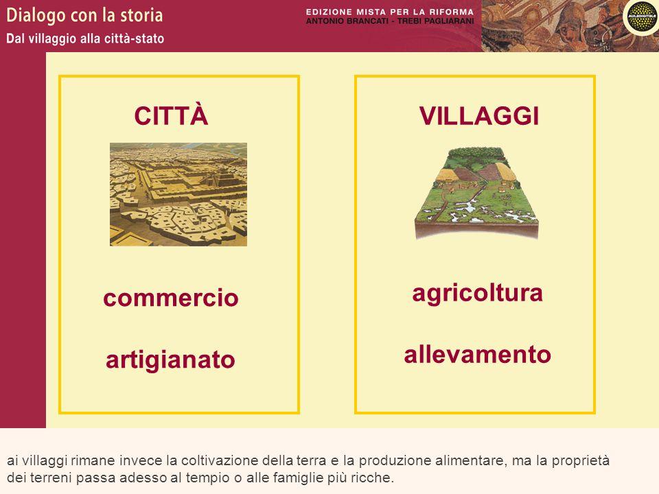 ai villaggi rimane invece la coltivazione della terra e la produzione alimentare, ma la proprietà dei terreni passa adesso al tempio o alle famiglie p