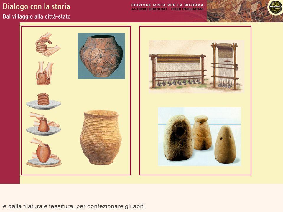 Luso di questi nuovi materiali ha connotato anche la suddivisione delle prime fasi della storia: ETÀ DEI METALLI