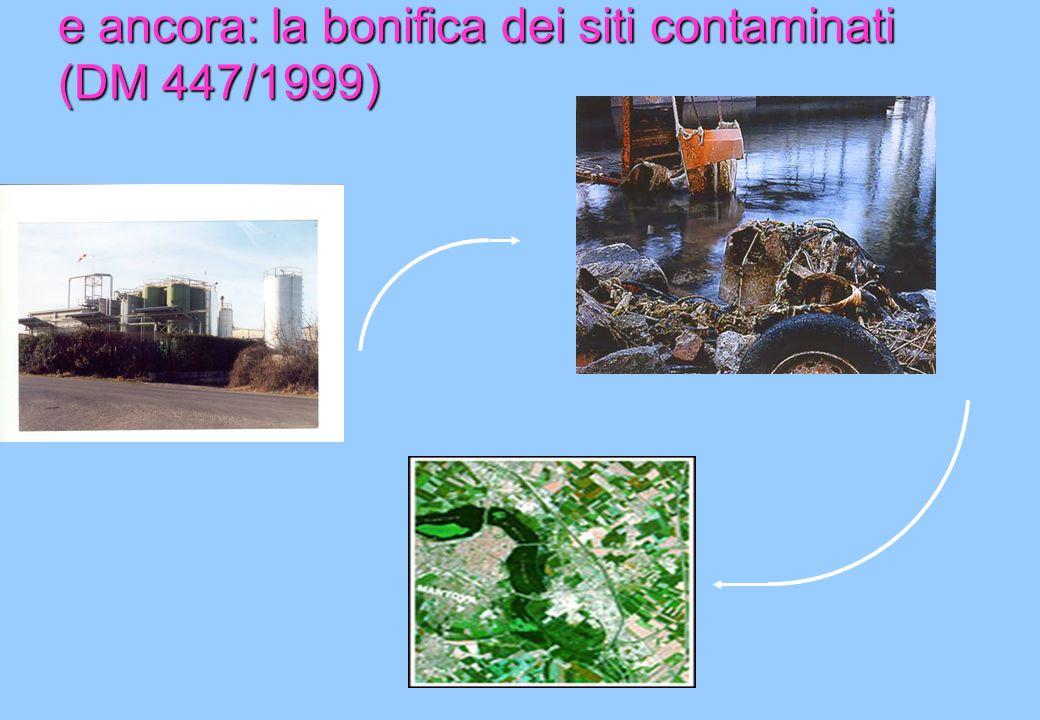 e ancora: la bonifica dei siti contaminati (DM 447/1999)