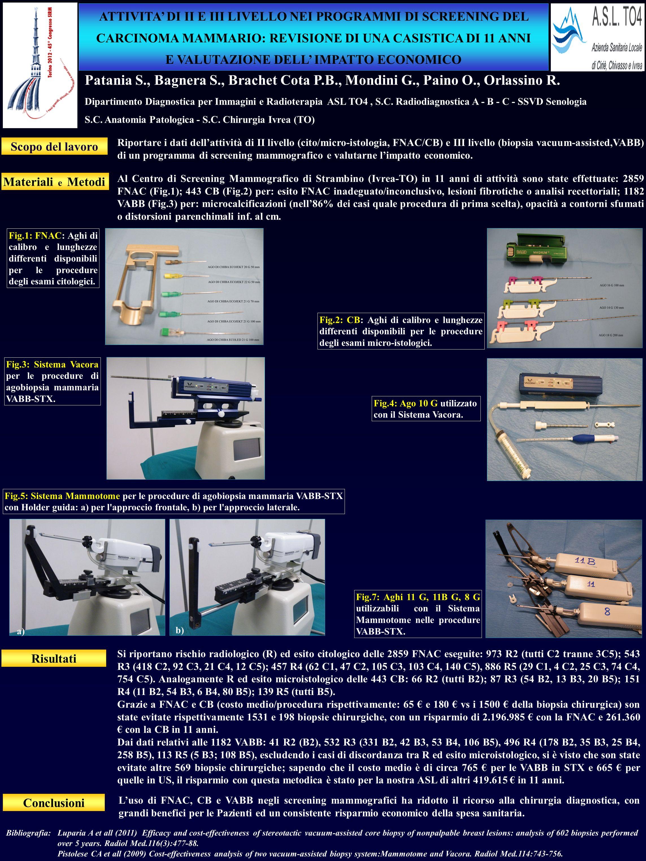 Patania S., Bagnera S., Brachet Cota P.B., Mondini G., Paino O., Orlassino R. Dipartimento Diagnostica per Immagini e Radioterapia ASL TO4, S.C. Radio