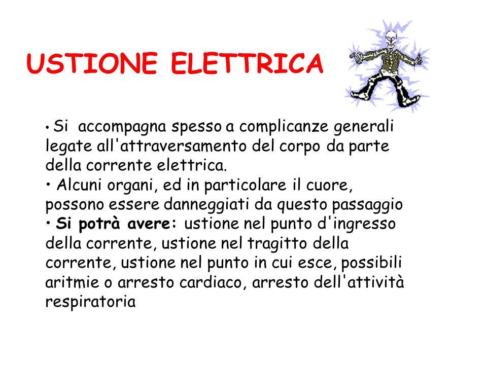 Si accompagna spesso a complicanze generali legate all attraversamento del corpo da parte della corrente elettrica.