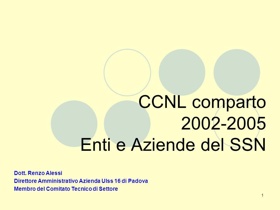 1 CCNL comparto 2002-2005 Enti e Aziende del SSN Dott.