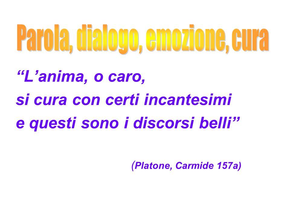 Lanima, o caro, si cura con certi incantesimi e questi sono i discorsi belli ( Platone, Carmide 157a)