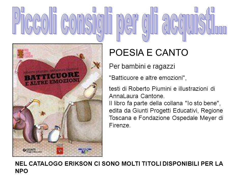 POESIA E CANTO Per bambini e ragazzi Batticuore e altre emozioni , testi di Roberto Piumini e illustrazioni di AnnaLaura Cantone.