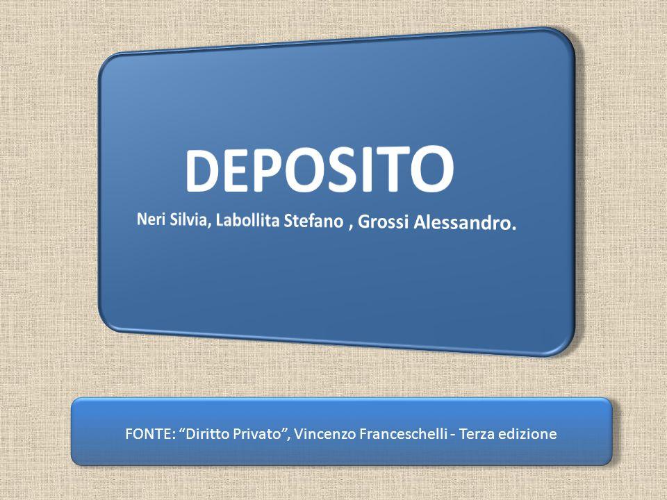 FONTE: Diritto Privato, Vincenzo Franceschelli - Terza edizione