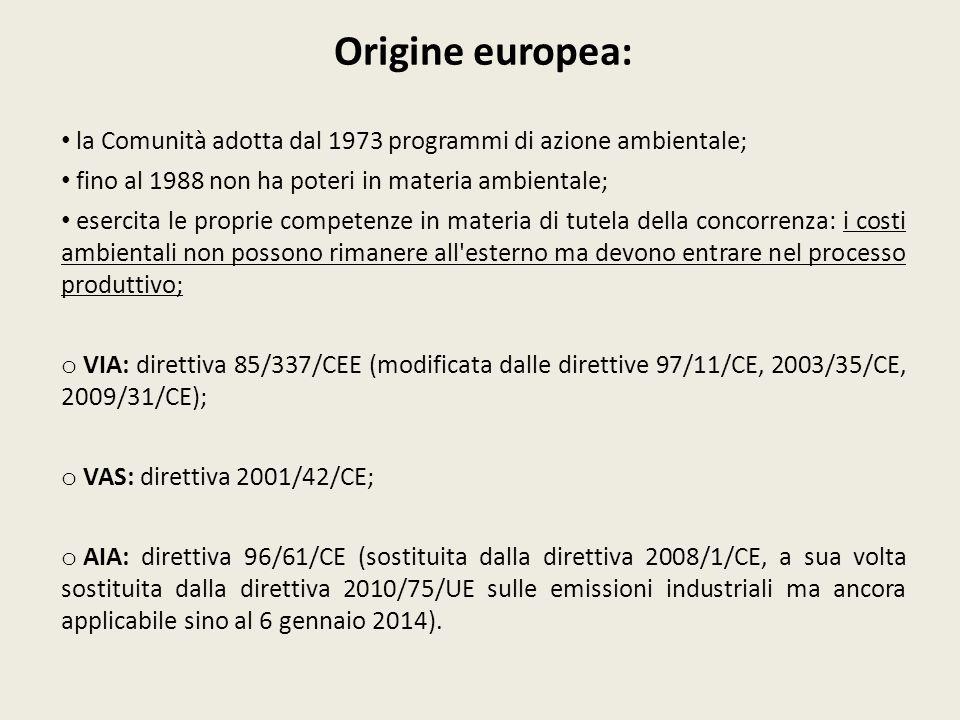 VIA - DEFINIZIONE (art.5, lett. b, come modificato dal d.lgs.
