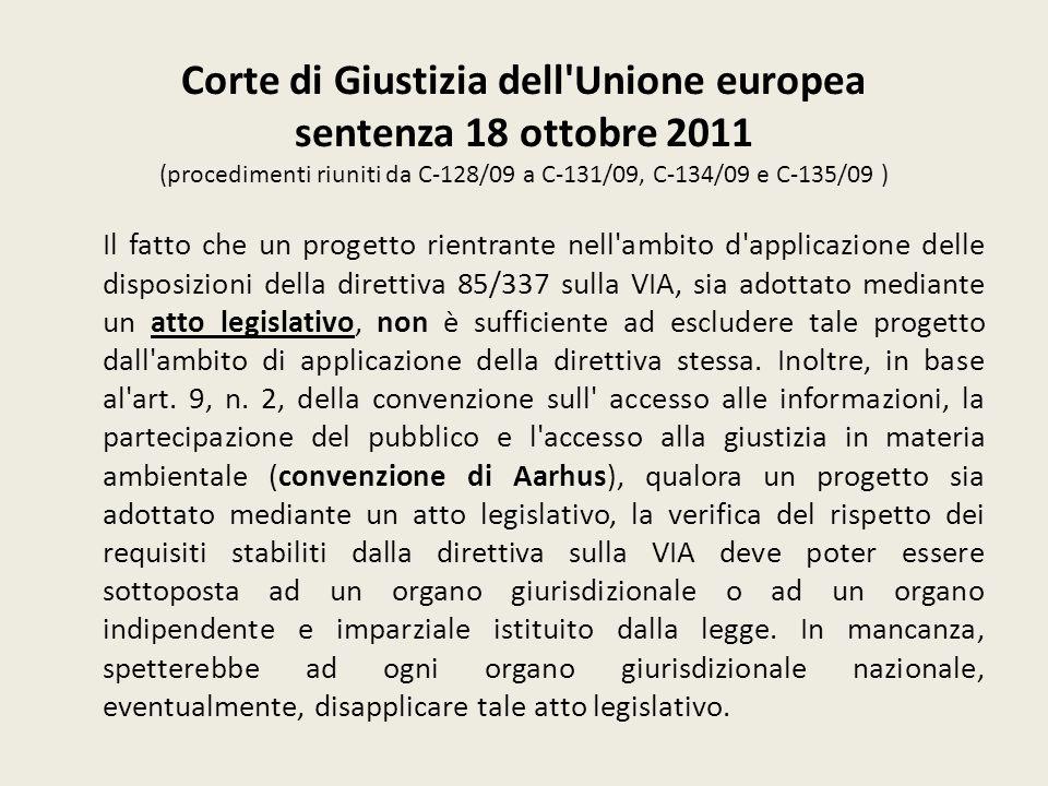 Corte di Giustizia dell'Unione europea sentenza 18 ottobre 2011 (procedimenti riuniti da C 128/09 a C 131/09, C 134/09 e C 135/09 ) Il fatto che un pr
