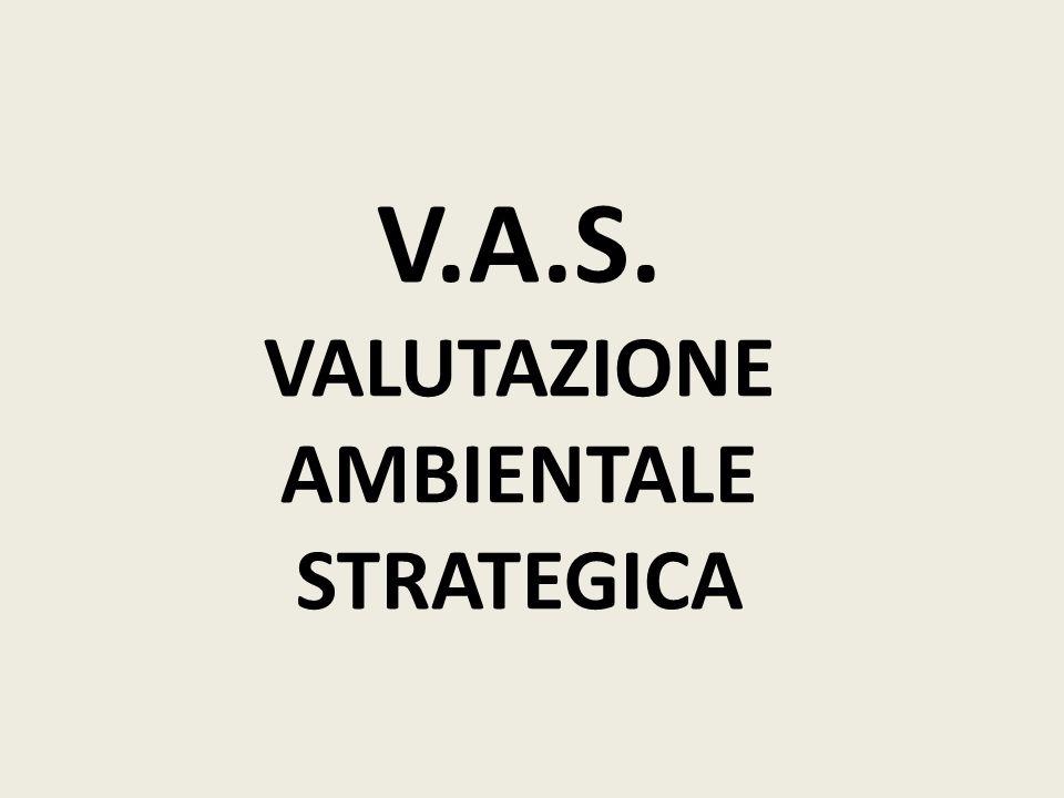 V.A.S. VALUTAZIONE AMBIENTALE STRATEGICA