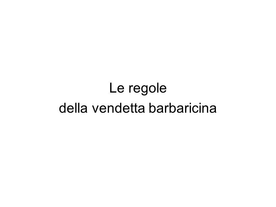 Le regole della vendetta barbaricina